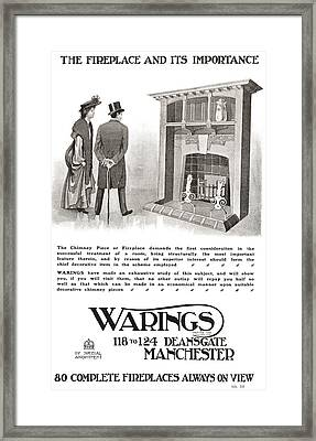 Advertisement For An Early 20th Century Framed Print by Vintage Design Pics