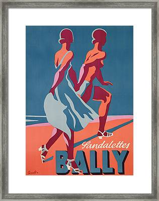 Advertisement For Bally Sandals Framed Print by Druck Gebr
