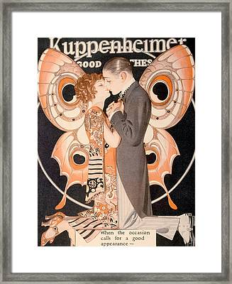 Advertisement For Kuppenheimer Framed Print by Everett