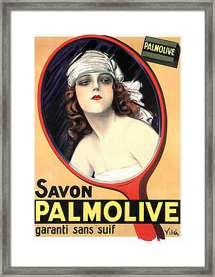 Advertisement For Palmolive Soap Framed Print