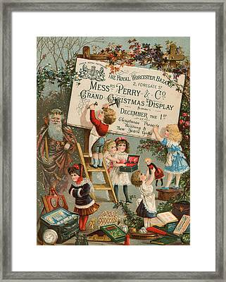 Advertisement For The Royal Worcester Bazaar Framed Print by English School