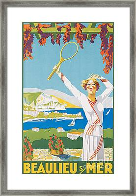 Advertising Poster For Beaulieu-sur-mer Framed Print