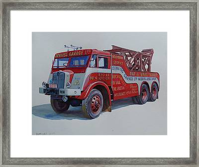 Framed Print featuring the painting Aec Militant Dennis's. by Mike Jeffries