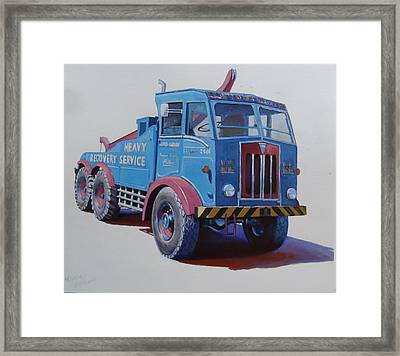 Framed Print featuring the painting Aec Militant Lloyds by Mike Jeffries