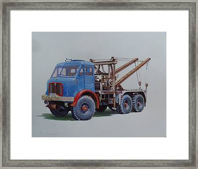 Framed Print featuring the painting Aec Militant Wrecker. by Mike Jeffries