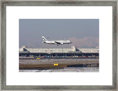 Framed Print featuring the photograph Aegean Airbus A320 003 - Sx-dvt by Amos Dor