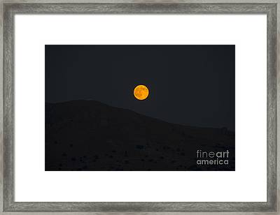 Aegean Blue Moon Framed Print