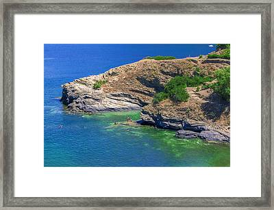 Aegean Coast In Bali Framed Print