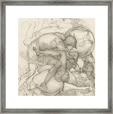 Aeneas Slaying Mezentius Framed Print