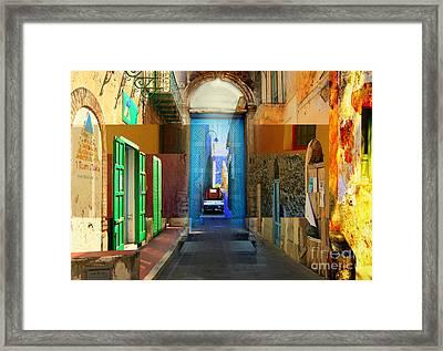 Aeolian Alleys Framed Print by Ayesha DeLorenzo