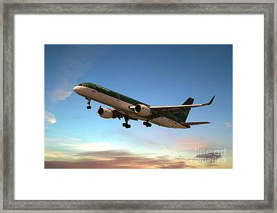 Aer Lingus Boeing 757 Framed Print