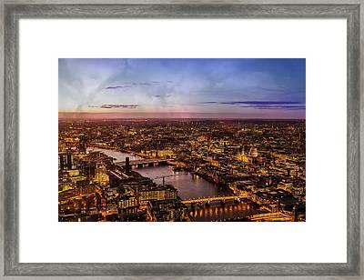 Aereal City Framed Print by Digital Art Cafe
