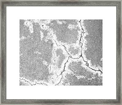 Aerial Asphalt 3 Framed Print by Anna Villarreal Garbis