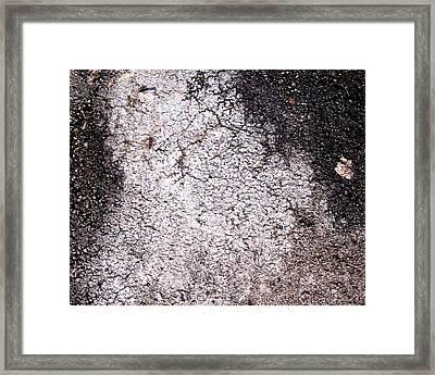 Aerial Asphalt 4 Framed Print by Anna Villarreal Garbis