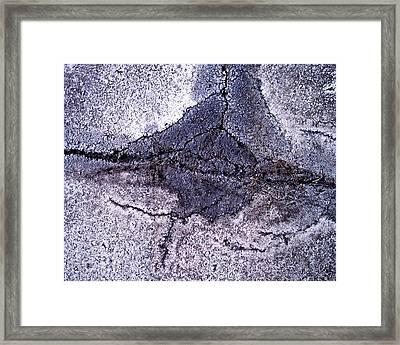 Aerial Asphalt 5 Framed Print by Anna Villarreal Garbis