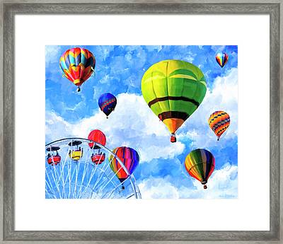 Framed Print featuring the mixed media Aerial Birth by Mark Tisdale