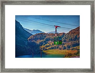 Aerial Cableway Framed Print by Hanny Heim