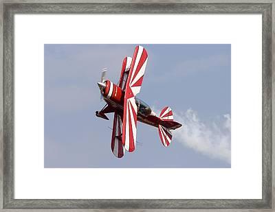 Aerial Display By Biplane Framed Print