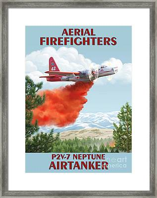 Aerial Firefighters P2v Neptune Framed Print by Airtanker Art