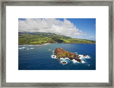 Aerial Of Alau Islet Framed Print by Ron Dahlquist - Printscapes