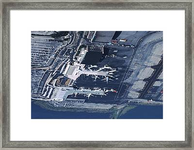 Aerial Of La Guardia Airport In New Framed Print
