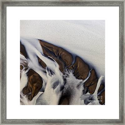 Aerial Photo Thjosa Iceland Framed Print by Gunnar Orn Arnason