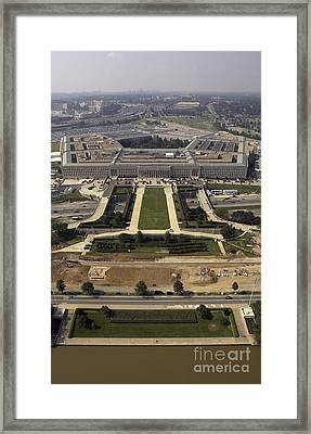 Aerial Photograph Of The Pentagon Framed Print by Stocktrek Images