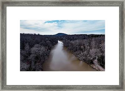 Aerial River View Framed Print