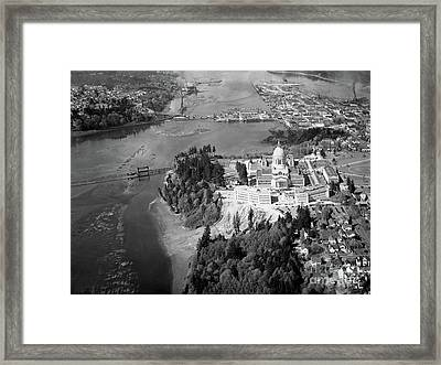 Framed Print featuring the photograph Aerial View Northward Over Olympia by Merle Junk