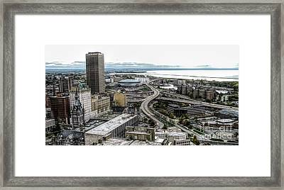Aerial View Of Buffalo New York 2 Fwc Effect Framed Print