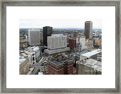 Aerial View Of Buffalo New York 3 Soft Effect Framed Print