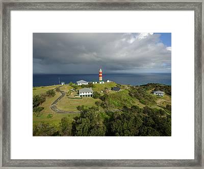 Aerial View Of Cape Moreton Lighthouse Precinct Framed Print