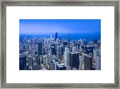 Chicago Skyline Aerial View  Framed Print