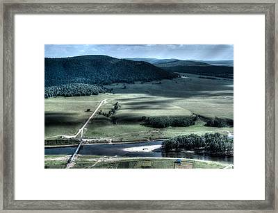 Aerial View Of Rolling Russian Hills Framed Print