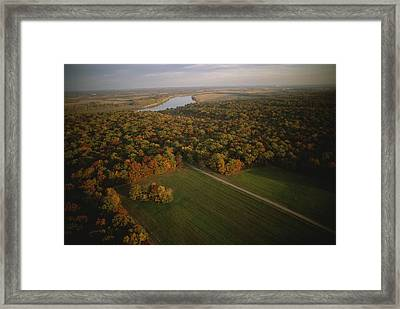 Aerial View Of Shiloh. The Tennessee Framed Print by Sam Abell
