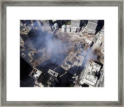 Aerial View Of The Destruction Where Framed Print by Stocktrek Images