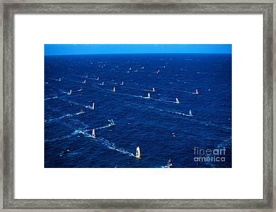 Aerial View Of Windsurfer Framed Print