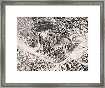 Aerial View Of Ypres In 1915 After Framed Print