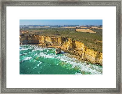 Aerial View Victorias Coast Framed Print