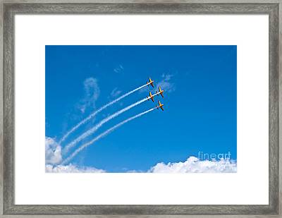 Framed Print featuring the photograph Aerobatics by Yurix Sardinelly