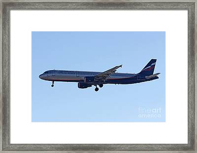 Aeroflot - Russian Airlines Airbus A321-211 - Vq-bhk Framed Print