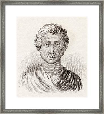 Aeschines, 389 To 314 Bc. Greek Framed Print