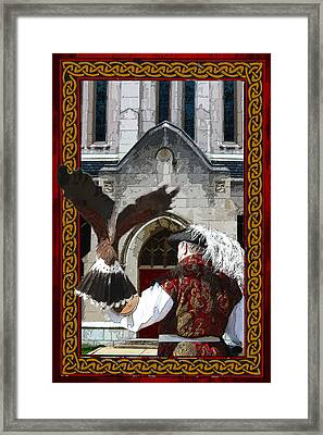 The Falconer Framed Print by Susan Vineyard