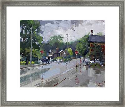 Afetr Rain At Glen Williams On Framed Print