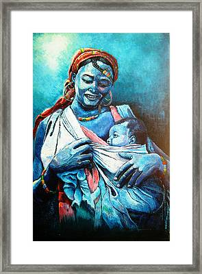 Affection Framed Print by Bankole Abe