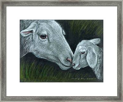 Affectionate Nuzzle Framed Print