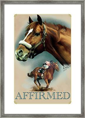 Affirmed With Name Decor Framed Print