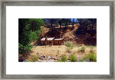 Cozy Cabin Kern County California Framed Print