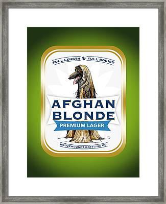 Afghan Blonde Premium Lager Framed Print