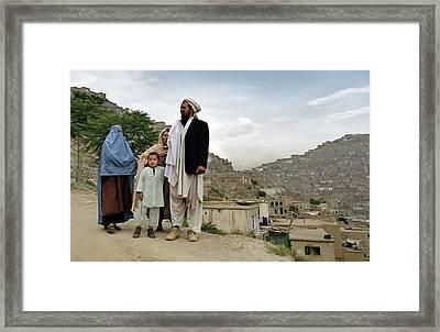 Afghan Family Framed Print